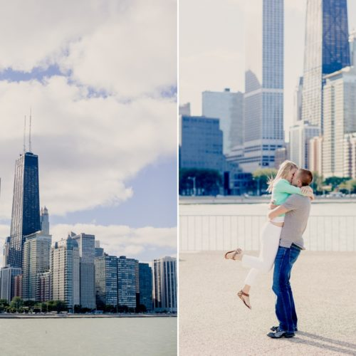 Meghan & David's Engagement Session at Navy Pier