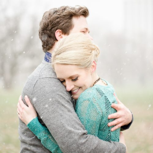 Lauren & Cooper's Rainy Lincoln Park Engagement