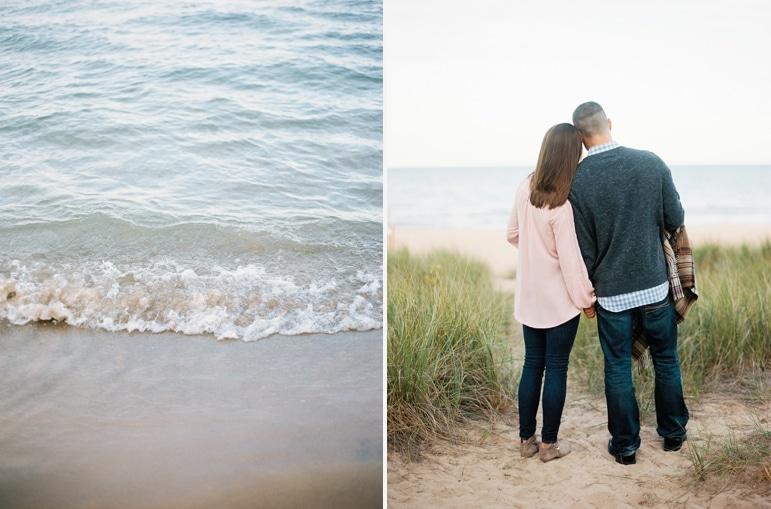 Evanston Lighthouse Beach Engagement - Kristin La Voie