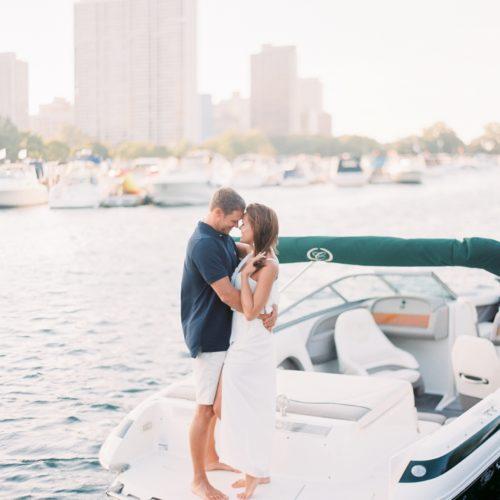 Chicago Diversey Harbor Boat Engagement